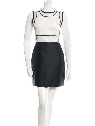 Victoria, Victoria Beckham Sheer Silk A-Line Dress