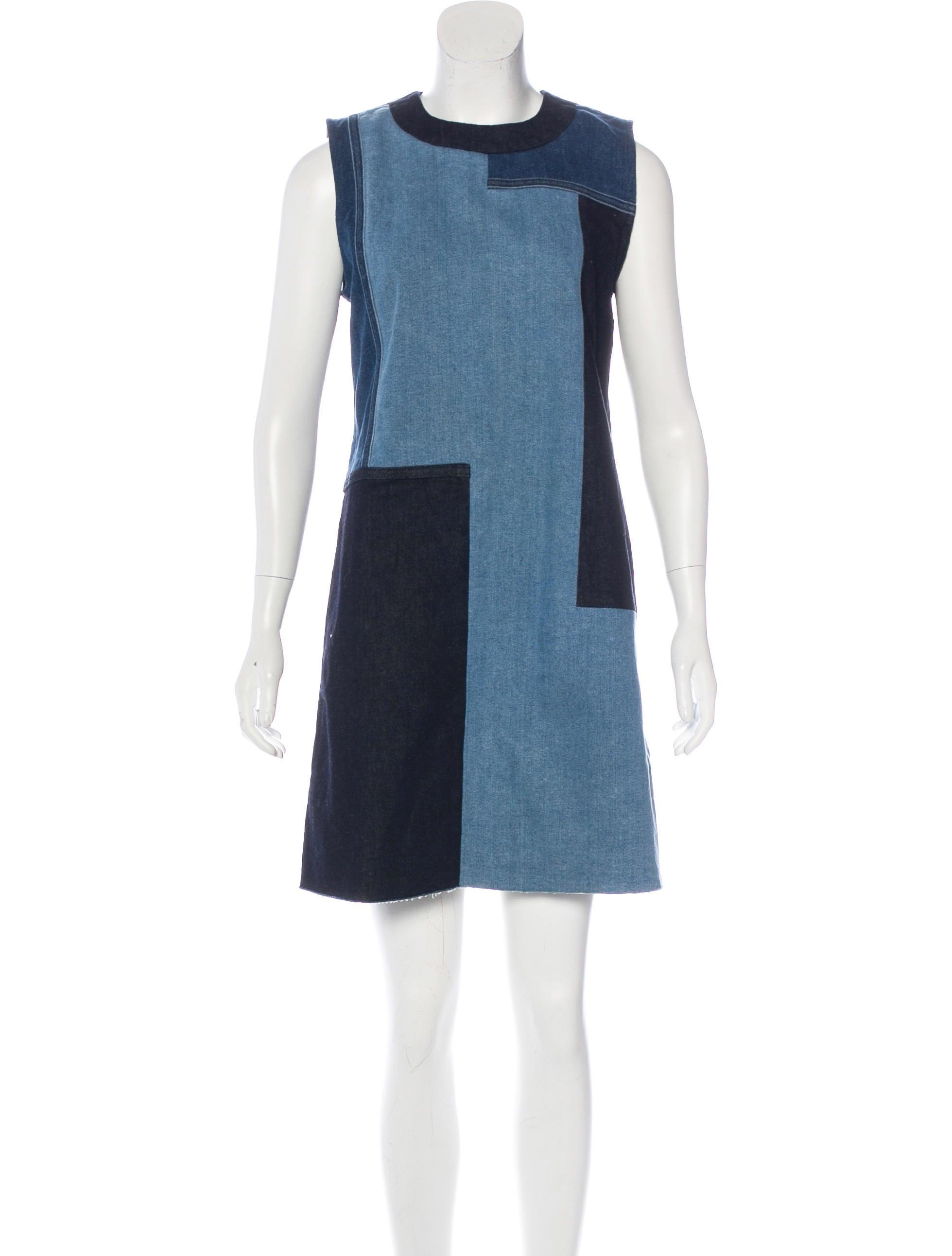 Victoria Victoria Beckham Patchwork Denim Dress