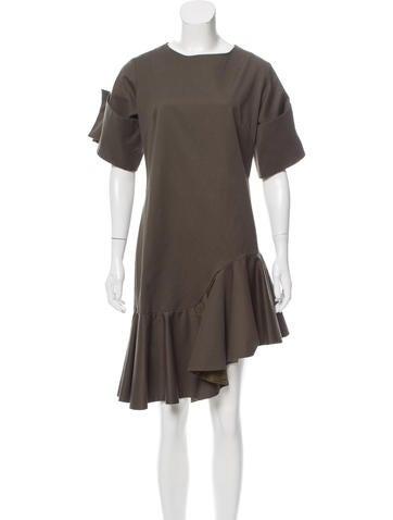 Viva Aviva Short Sleeve Knee-Length Dress None