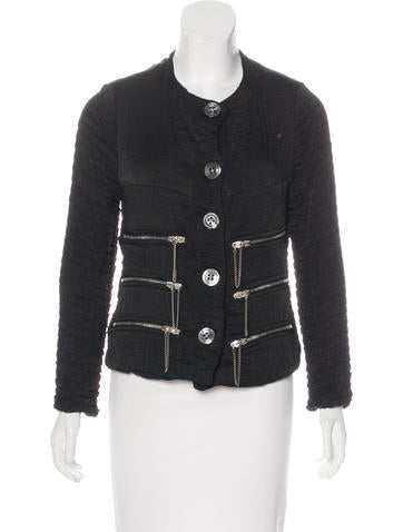 Voyager Textured Button-Up Jacket None