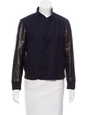 Kai-Aakmann  Leather-Trimmed Wool Jacket None