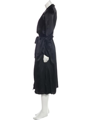 ee70bb239cf we are LEONE Silk Tallulah Trench Coat w/ Tags - Clothing - WWALN20307 |  The RealReal