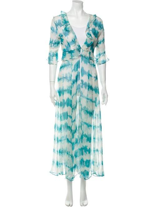 we are Leone Silk Tie-Dye Print Sweater w/ Tags Bl