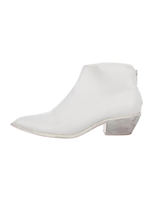 Wal & Pai Leather Boots White