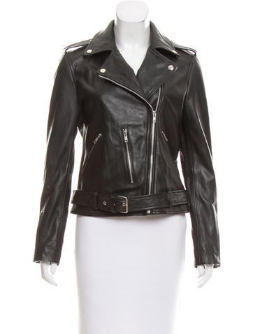 Walter Baker Leather Motorcycle Jacket None