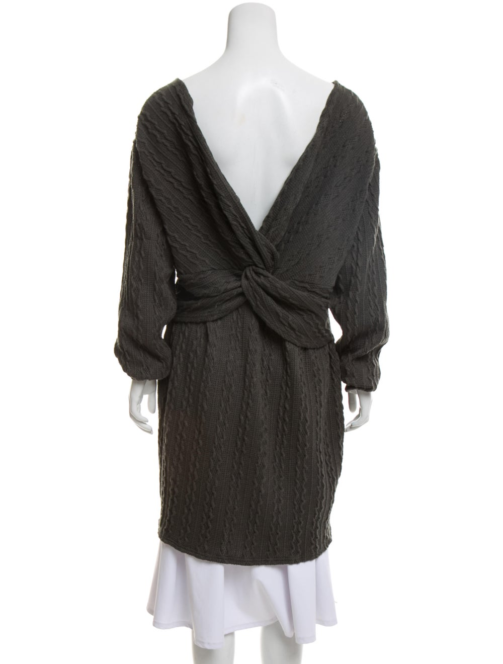 Walter Baker Cable-Knit Sweater Dress green - image 3