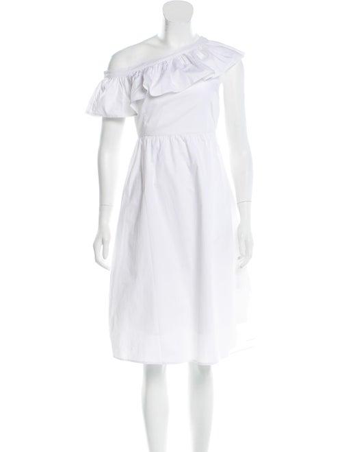 Walter Baker One-Shoulder Knee-Length Dress White