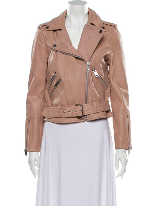 Walter Baker Lamb Leather Biker Jacket Pink