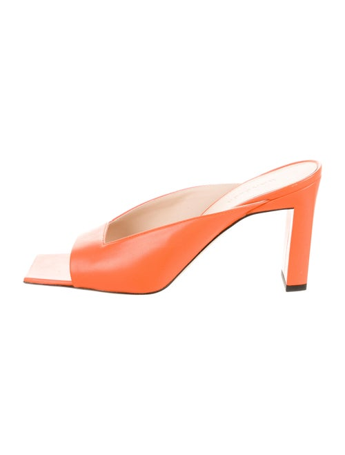 Wandler Leather Slides Orange