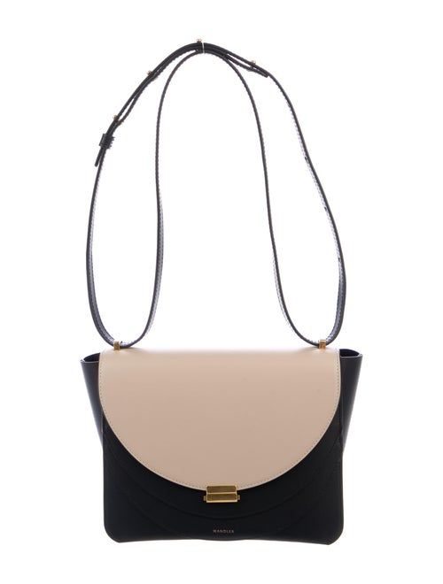 Wandler Leather Colorblock Crossbody Bag Black