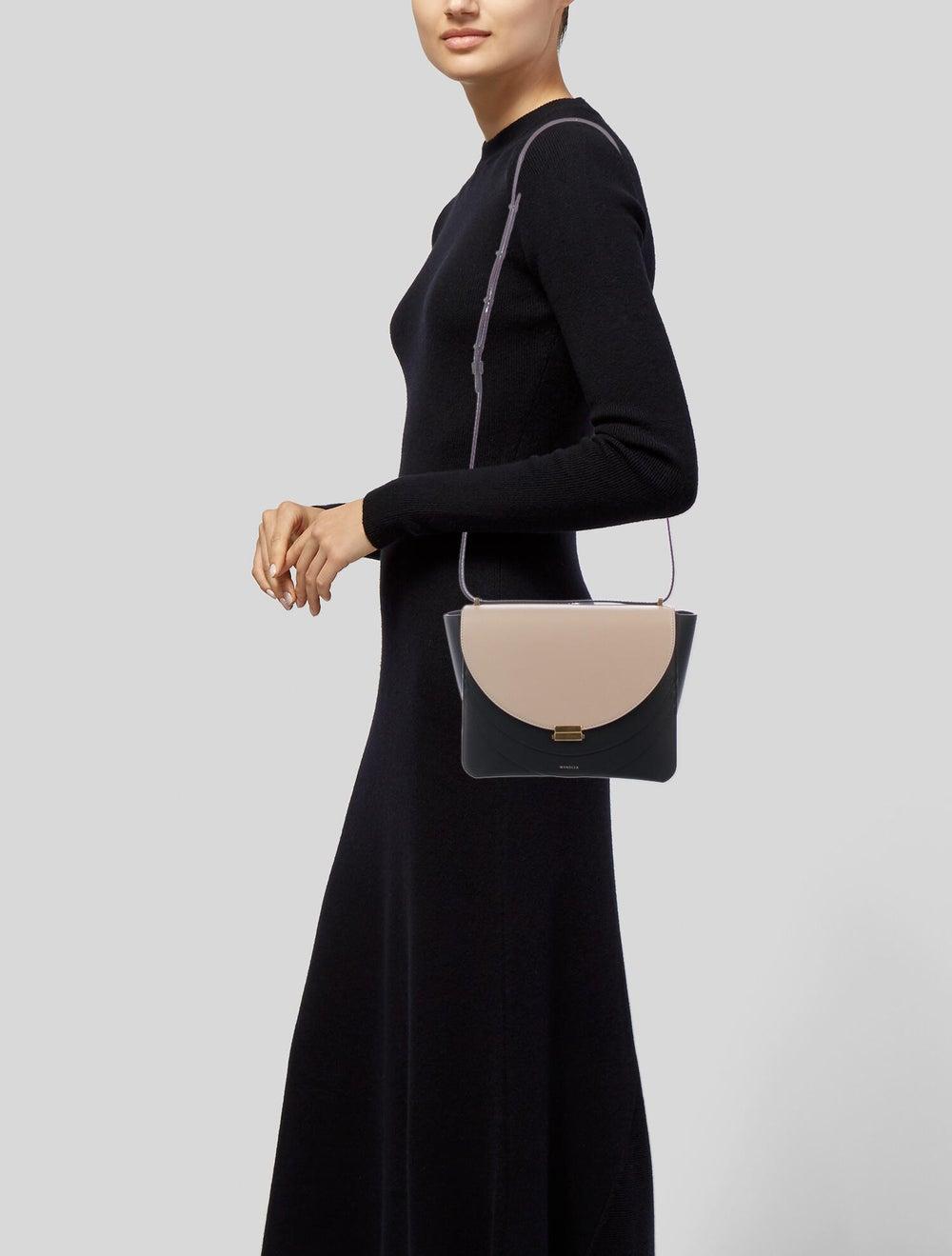 Wandler Leather Colorblock Crossbody Bag Black - image 2