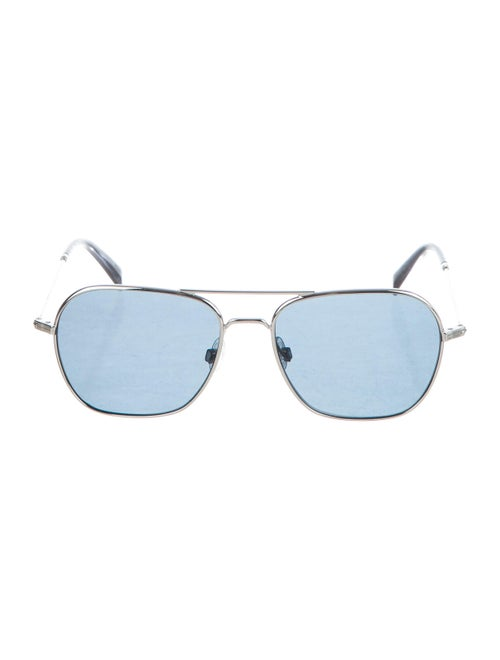 Warby Parker Tinted Aviator Sunglasses Silver