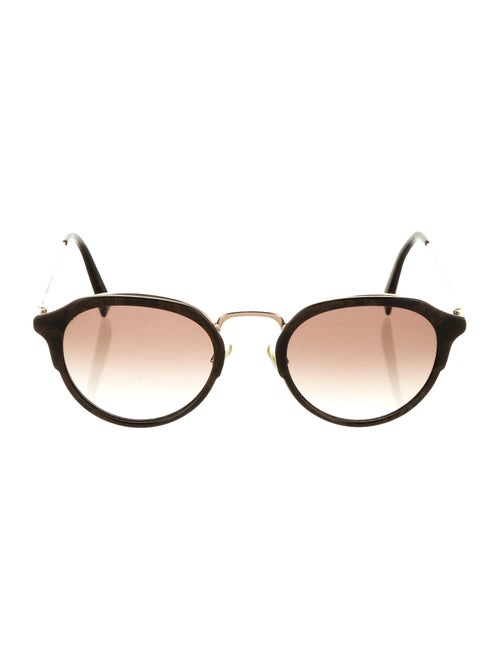 Warby Parker Tinted Round Sunglasses Gold