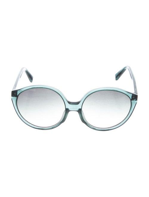 Warby Parker Round Gradient Sunglasses Green