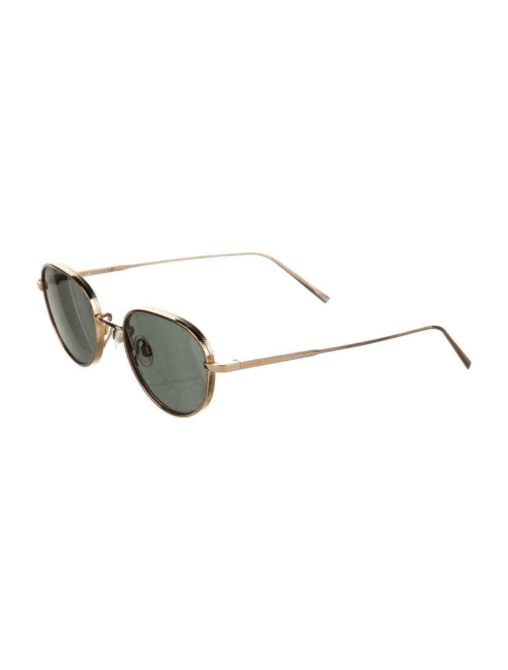 Warby Parker Round Tinted Sunglasses Gold - image 2