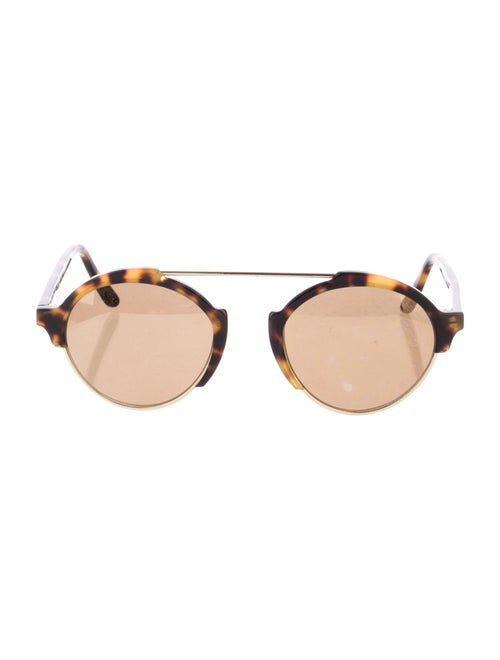 Warby Parker Round Mirrored Sunglasses Gold - image 1