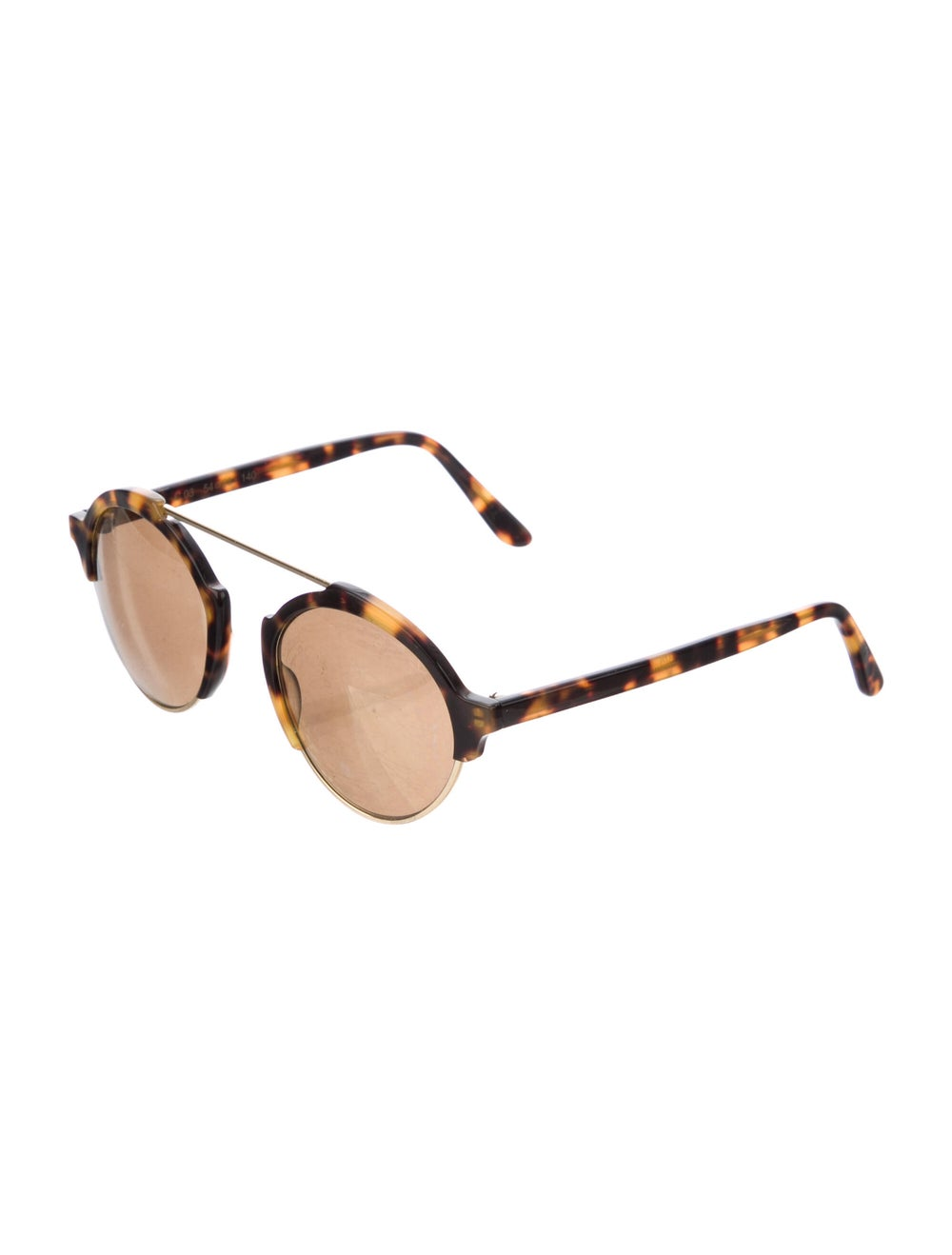 Warby Parker Round Mirrored Sunglasses Gold - image 2