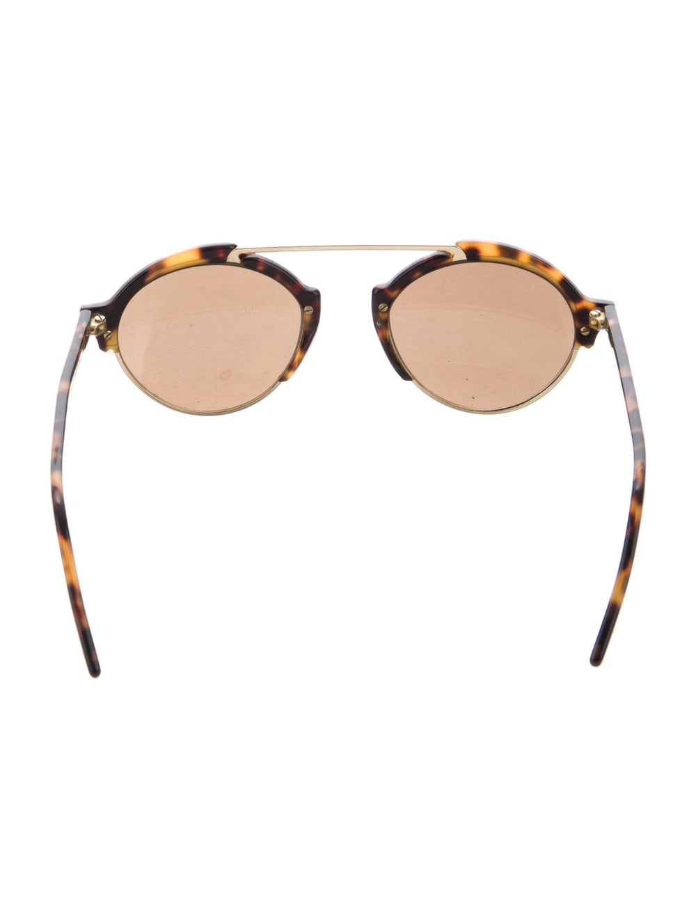 Warby Parker Round Mirrored Sunglasses Gold - image 3