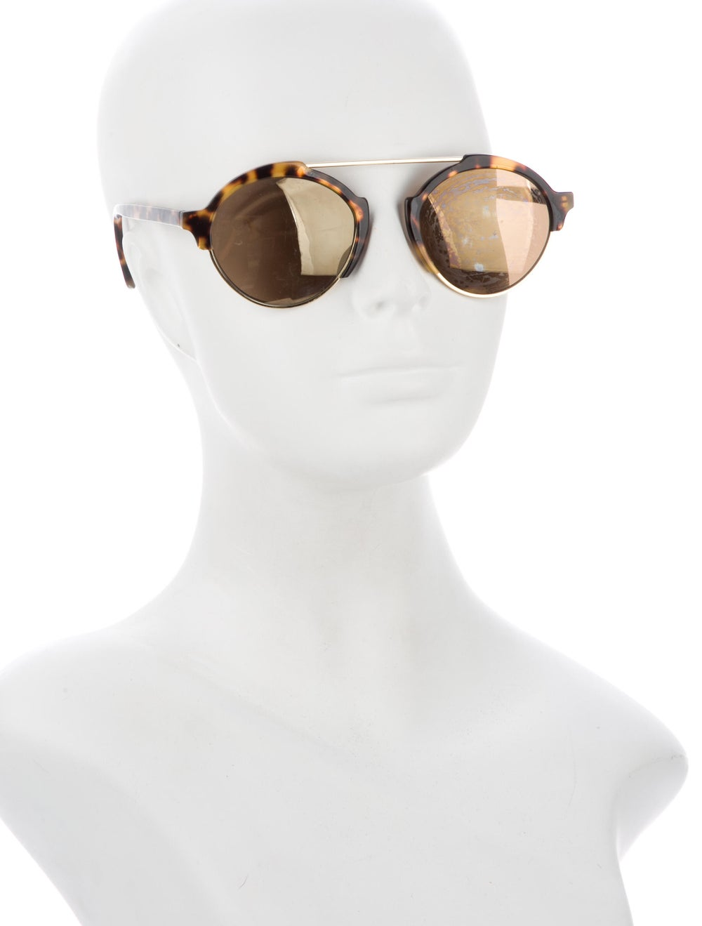 Warby Parker Round Mirrored Sunglasses Gold - image 4