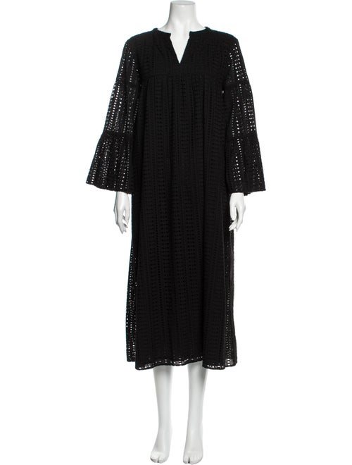 Warm Hitch Dress Star Eyelet Long Dress w/ Tags Bl