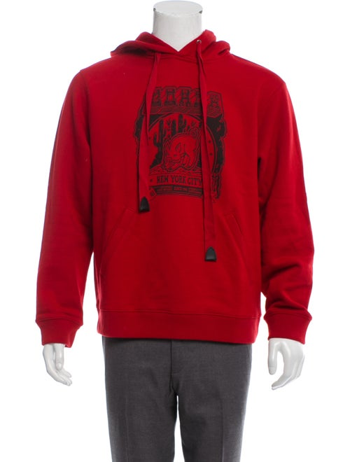 Coach 1941 Graphic Print Hoodie red