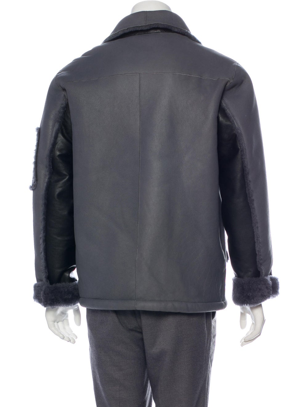 Coach 1941 Shearling-Lined Leather Jacket grey - image 3