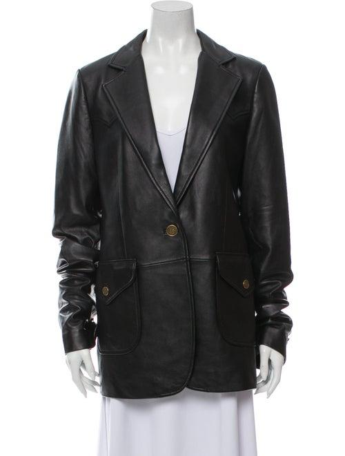 Coach 1941 Leather Blazer Black