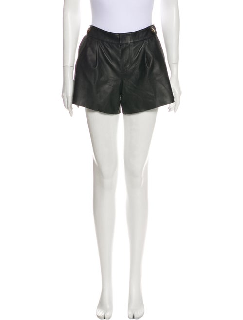 Coach 1941 Leather Mini Shorts Black