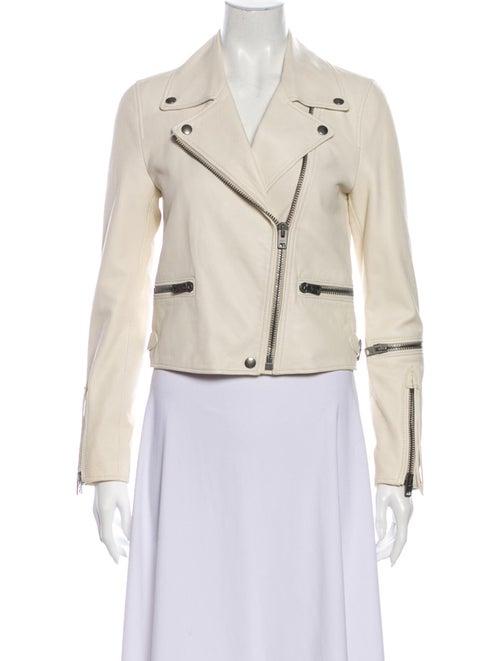 Coach 1941 Lamb Leather Biker Jacket White