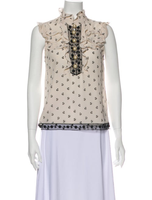 Coach 1941 Printed Mock Neck Blouse