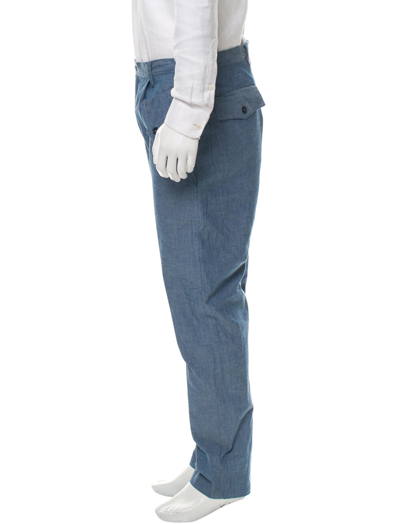Camo chambray pants clothing wwcmo20016 the realreal for Chambray jeans