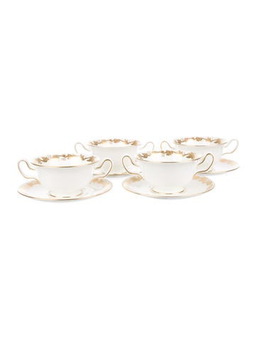 Wedgwood Cream Soup Bowls and Saucers None