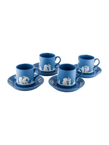 Wedgwood Jasperware Espresso Cup & Saucer Set None
