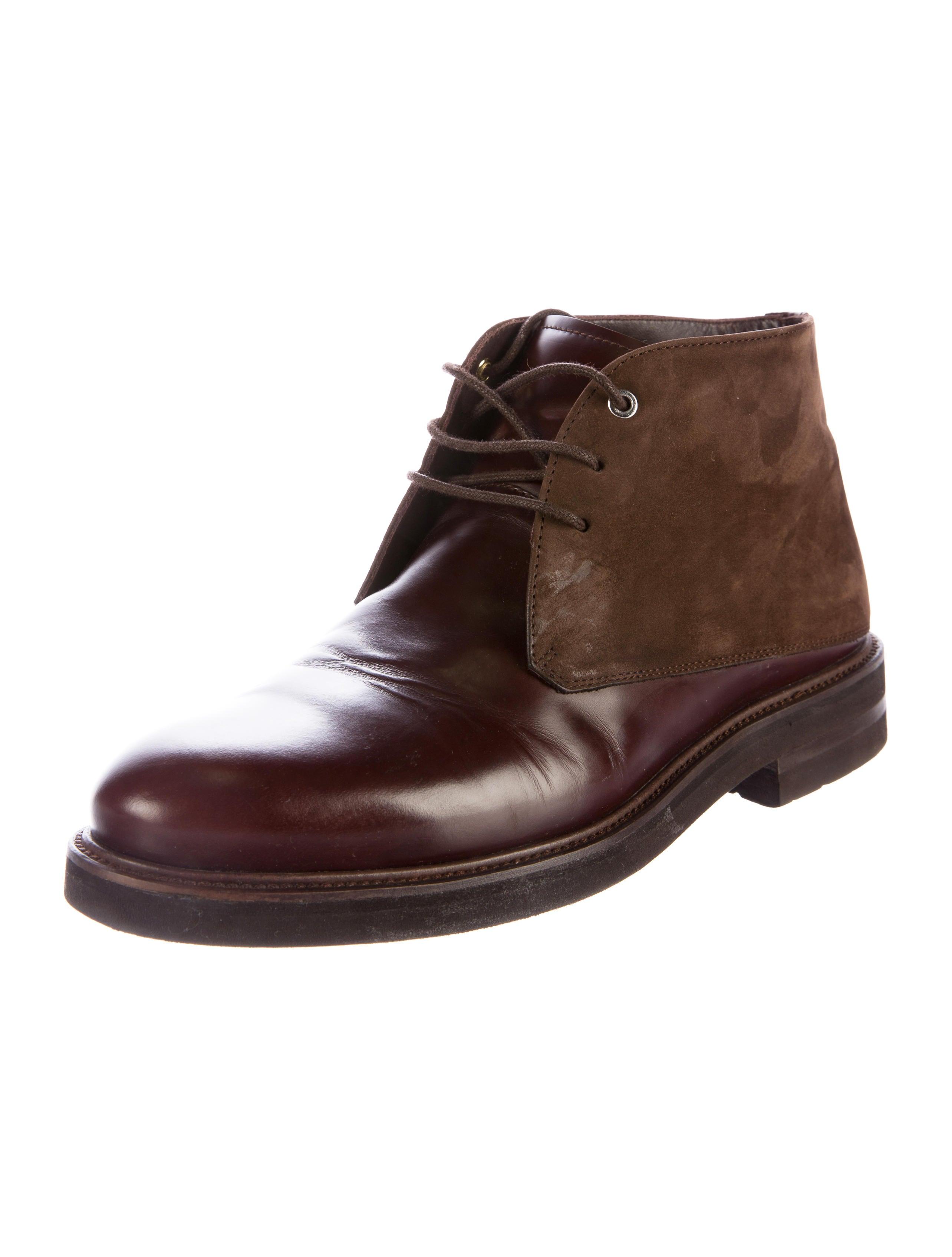 want les essentiels de la vie leather suede ankle boots