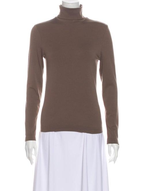 Wolford Turtleneck Long Sleeve Top Brown