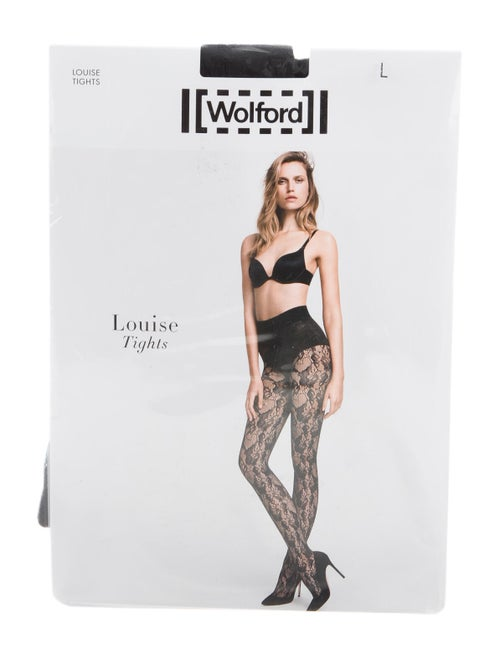 Wolford Louise Woven Tights Black
