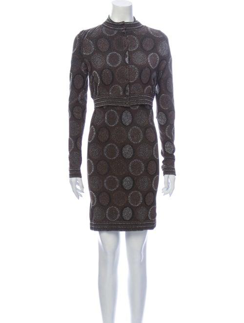 Wolford Polka Dot Print Dress Set Brown