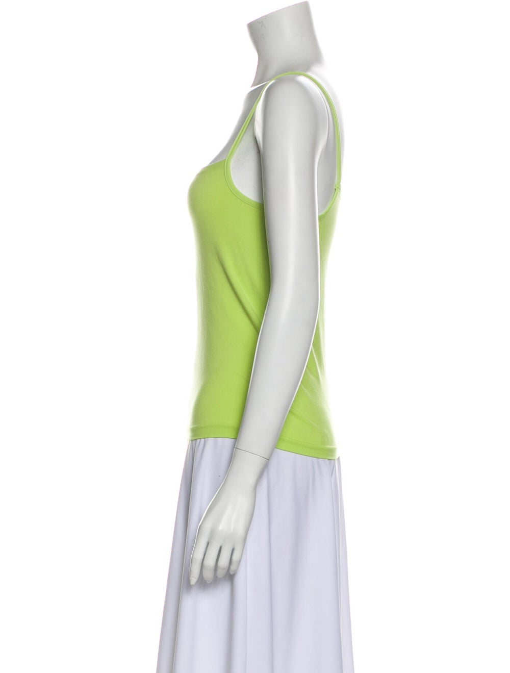 Wolford Square Neckline Sleeveless Top Green - image 2