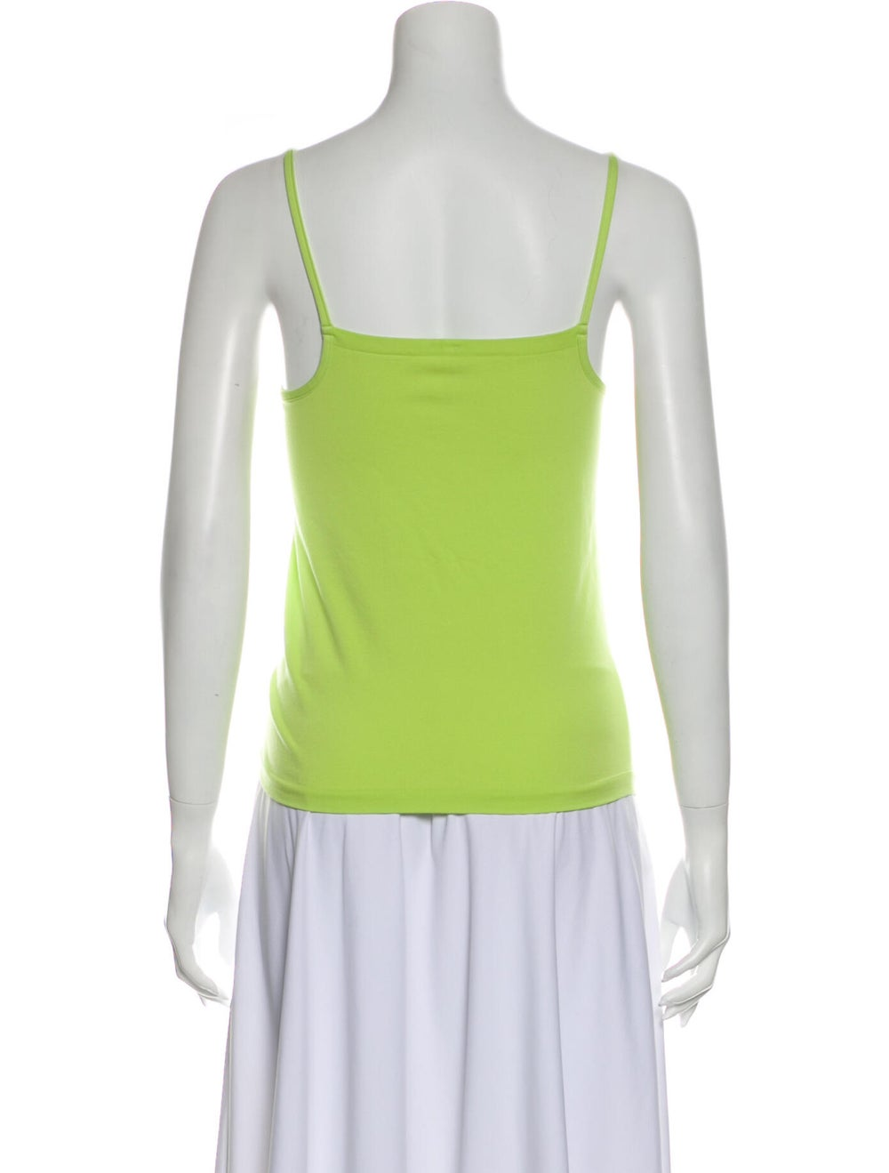 Wolford Square Neckline Sleeveless Top Green - image 3