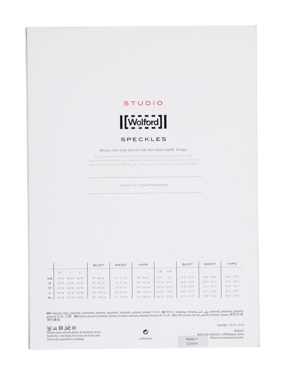 Wolford Printed Crew Neck Bodysuit Black - image 2