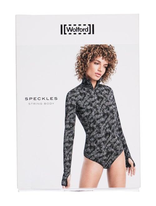 Wolford Speckles Printed Bodysuit Black - image 1