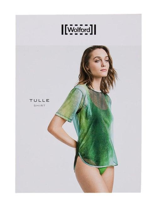 Wolford Tie-Dye Print Crew Neck Bodysuit Black