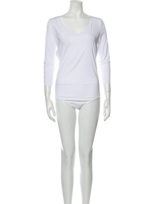 Wolford Bodysuit Scoop Neck Bodysuit White