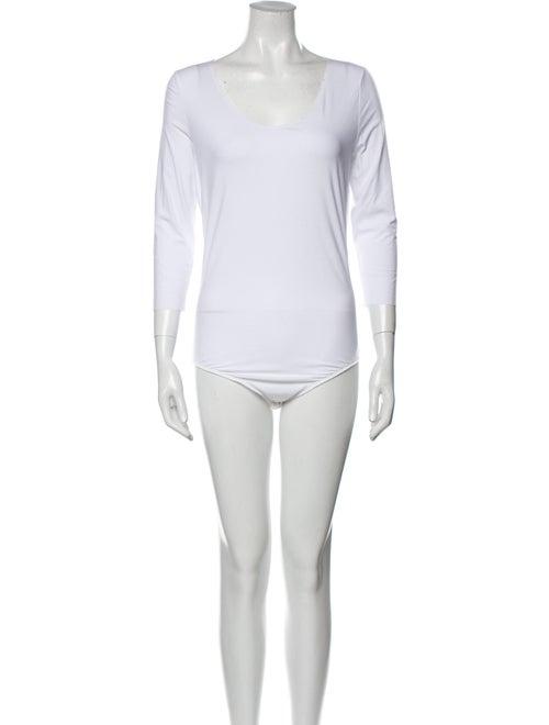 Wolford Bodysuit Scoop Neck Bodysuit White - image 1
