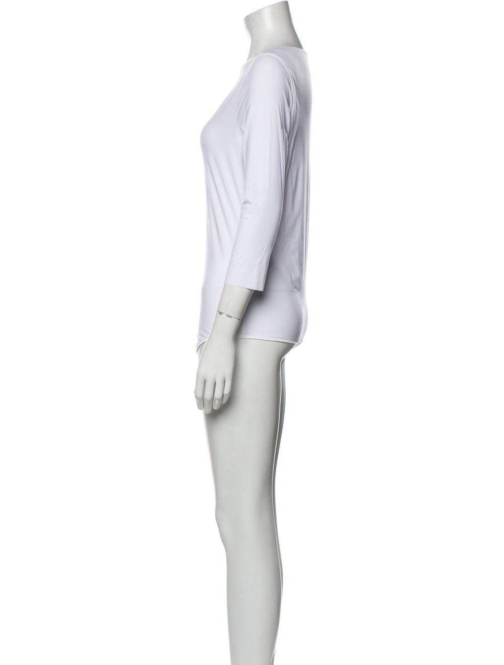 Wolford Bodysuit Scoop Neck Bodysuit White - image 2