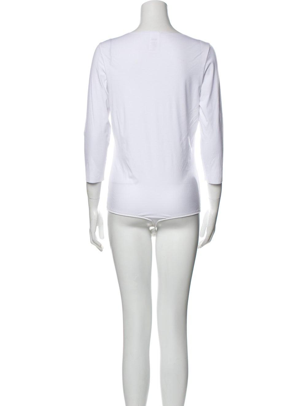 Wolford Bodysuit Scoop Neck Bodysuit White - image 3