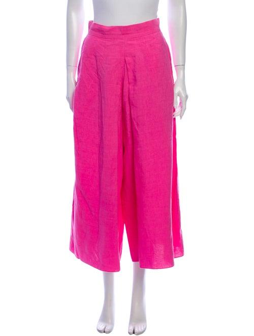 Whit Linen Wide Leg Pants Pink