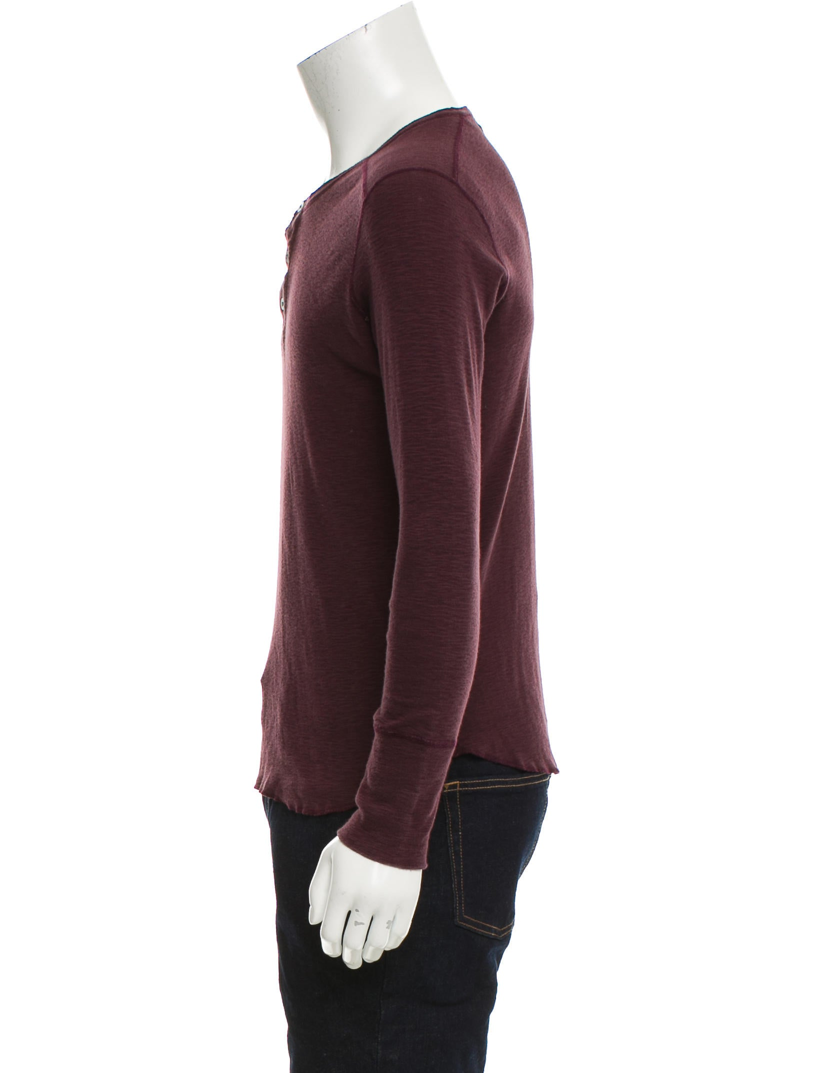 Wings + Horns Knit Henley Sweater - Clothing - WWHNS20169 The RealReal