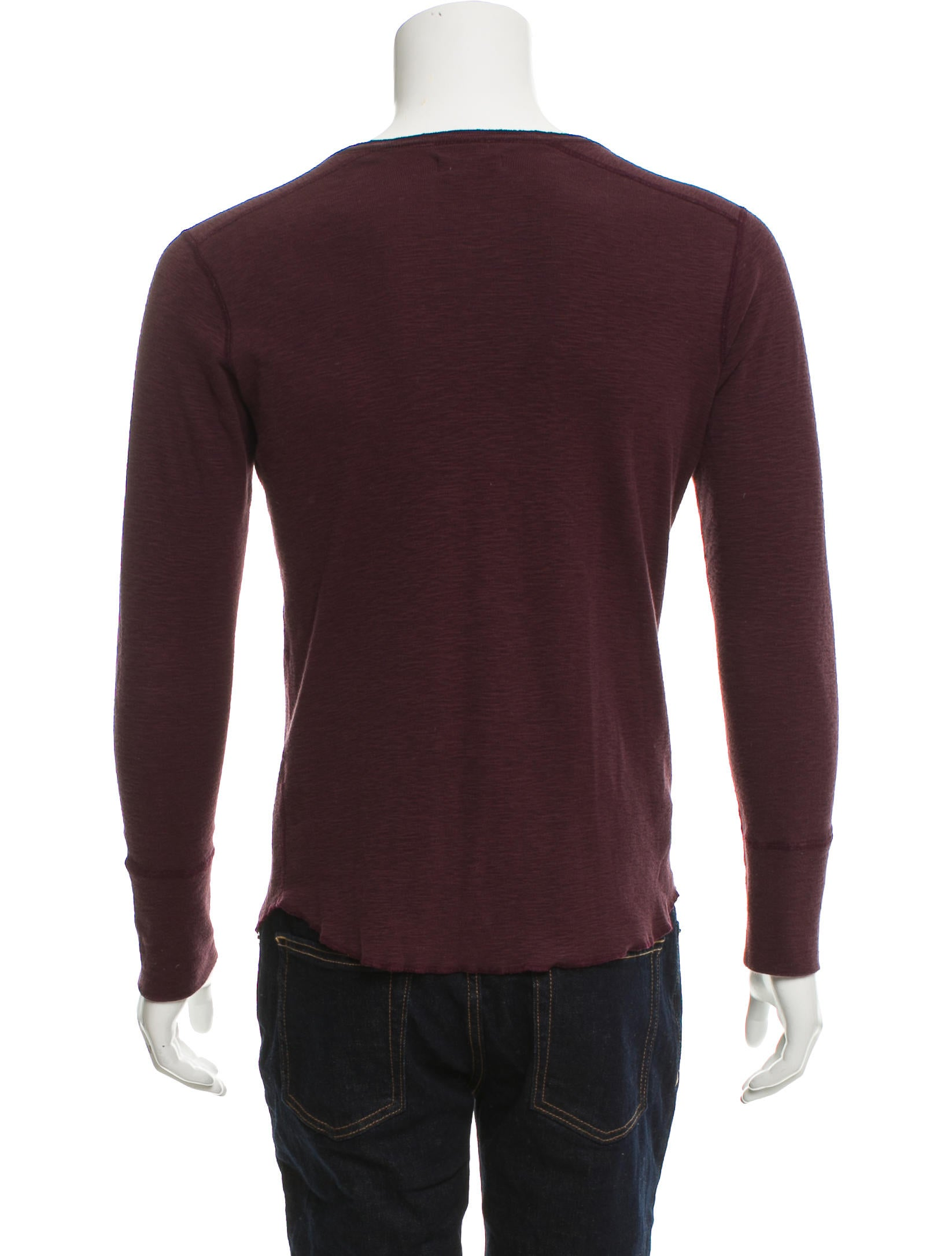 Wings + Horns Knit Henley Sweater - Clothing - WWHNS20169 ...