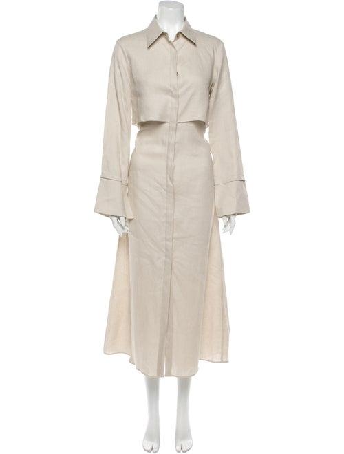 White Story Linen Long Dress w/ Tags White